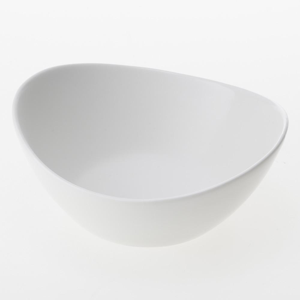 楕円ボウル 大 白磁 HA4642
