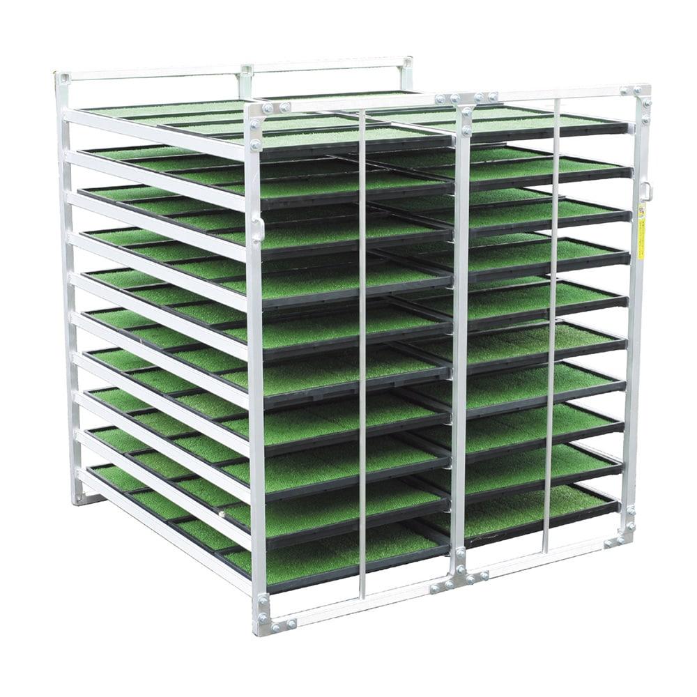 【SU】アルミ製苗箱運搬棚水平収納 80枚
