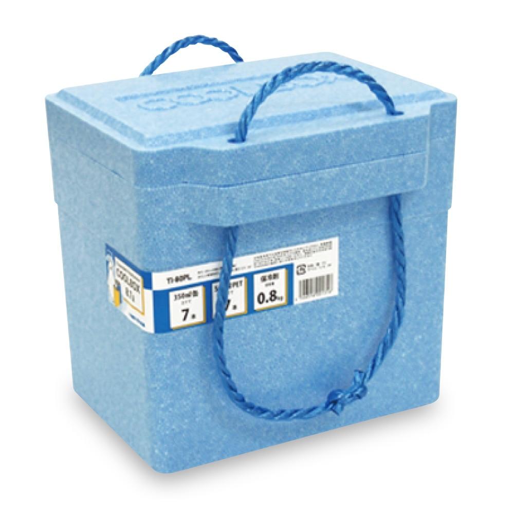 <ケース販売用単品JAN> 発泡クーラーBOX 青 TI-80PL
