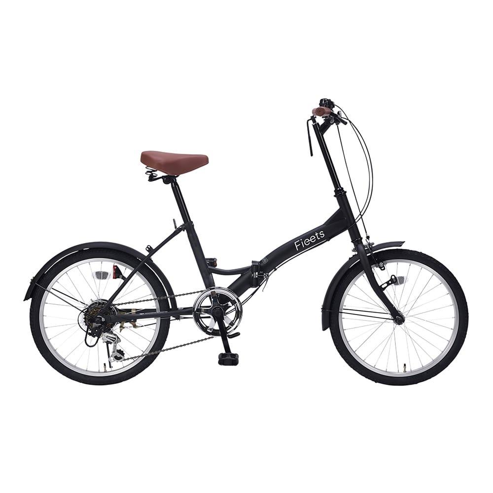【自転車】折畳自転車20インチ6段ギア付ブラック【別送品】
