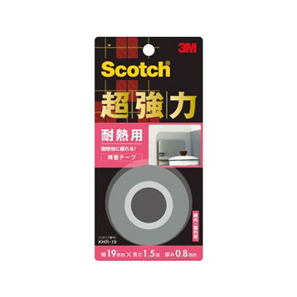 3M スコッチ(R) 超強力両面テープ 耐熱用 19 1.5KHR-19