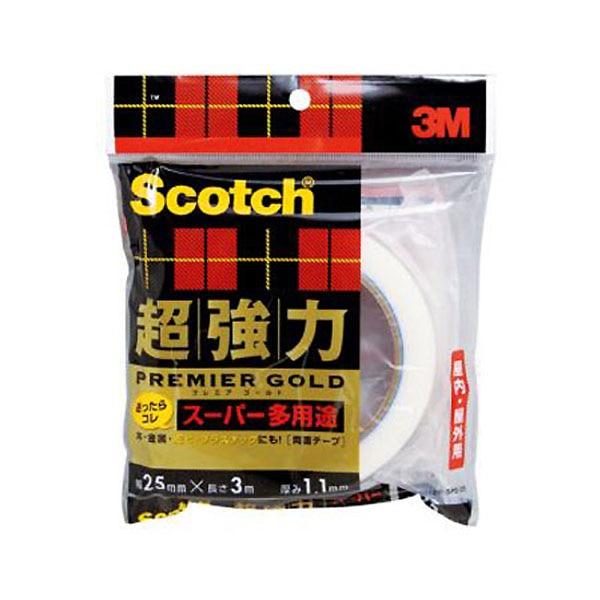 3M スコッチ(R) 超強力両面テープ プレミアゴールド(スーパー多用途) 25 3SPS-25