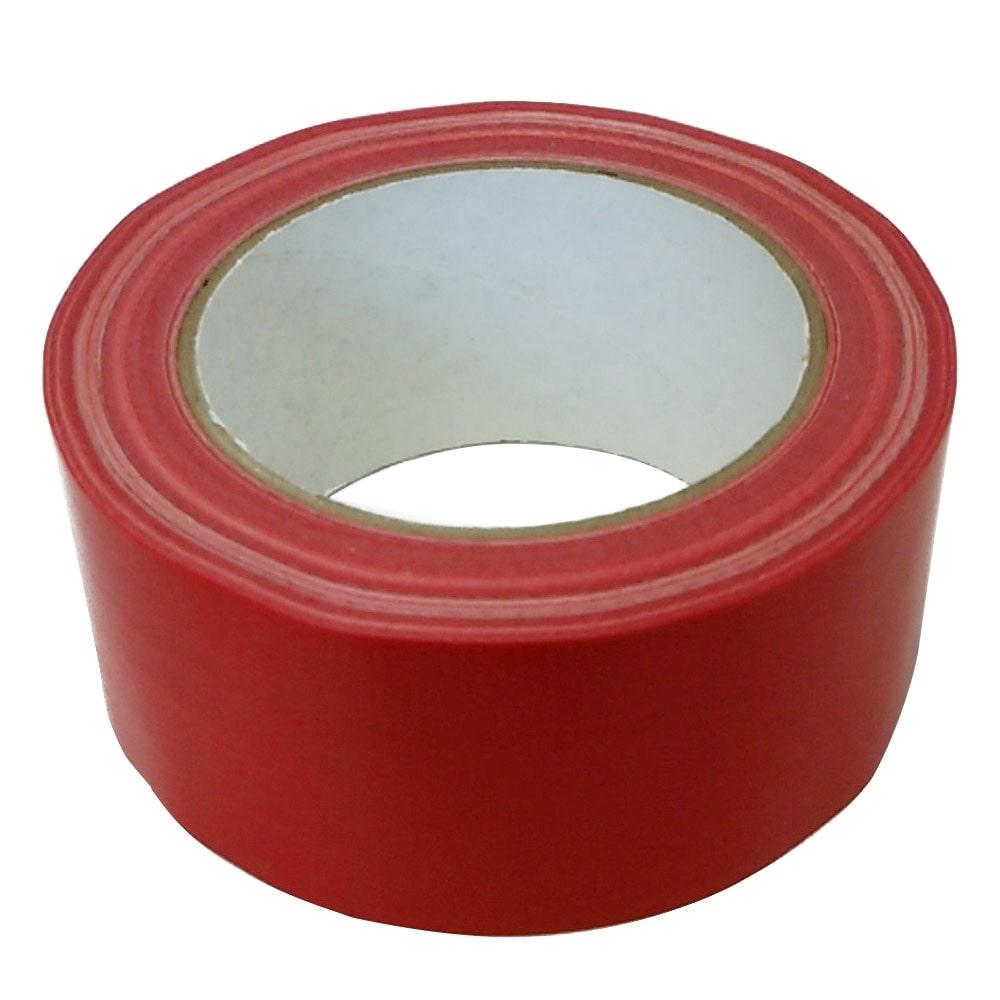 カラー布粘着テープ 幅50mm×25m アカ