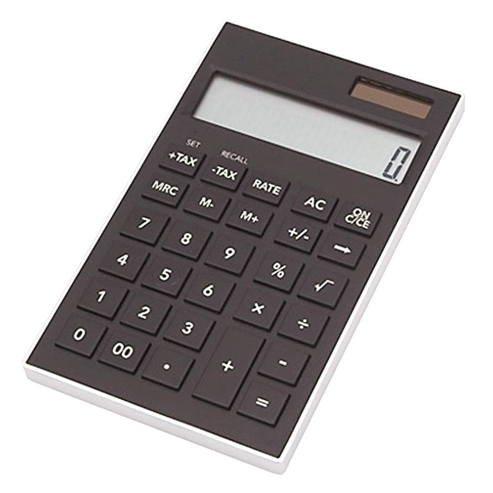 軽くて薄い電卓 KUD-12BK