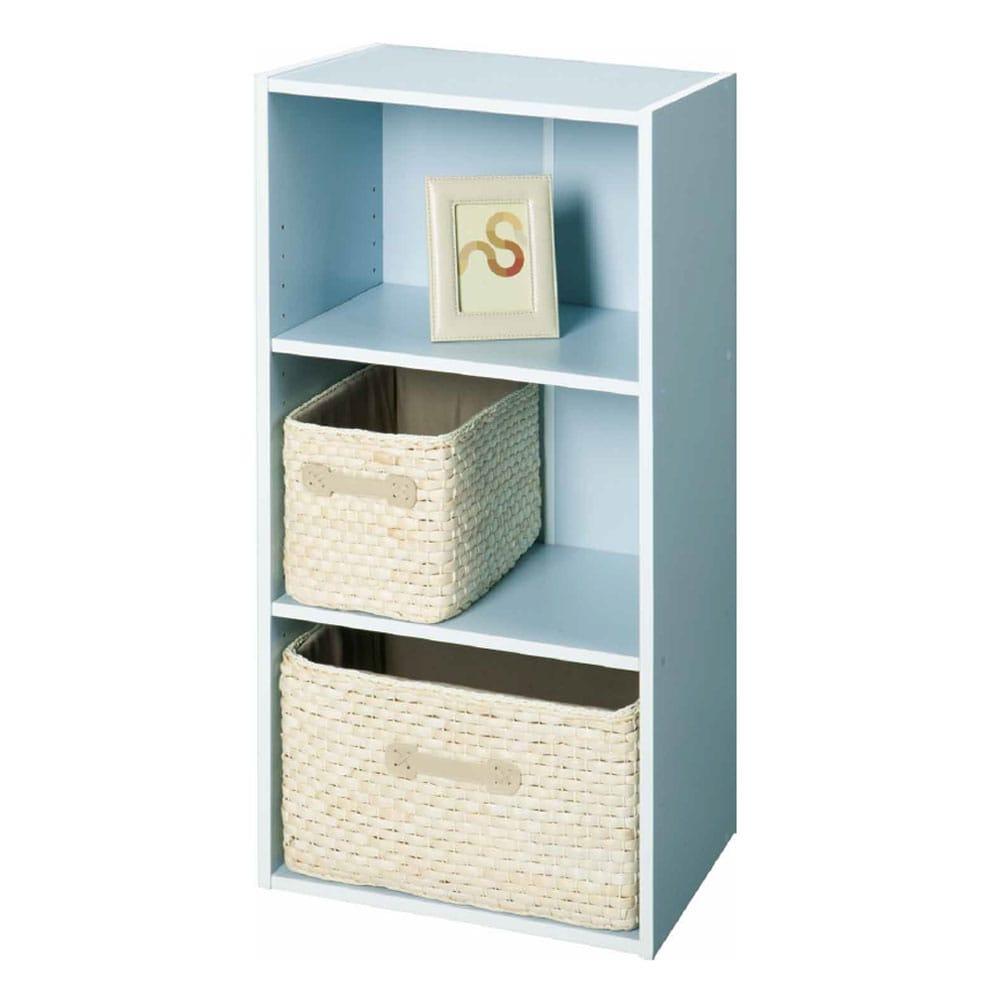 カラーボックス F27 可動棚カラフルボックス ブルー