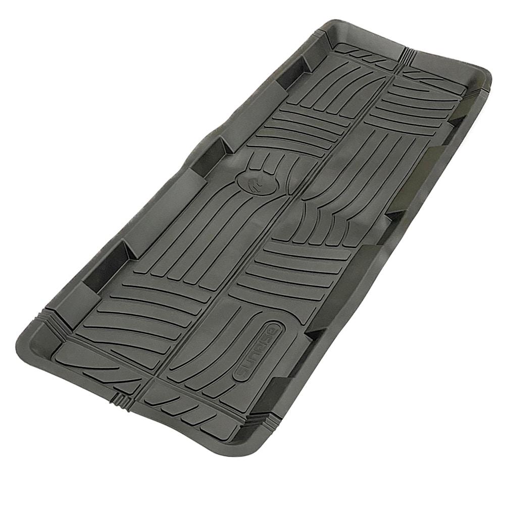 丸洗いできる立体ロングマット 後部座席用 ブラック