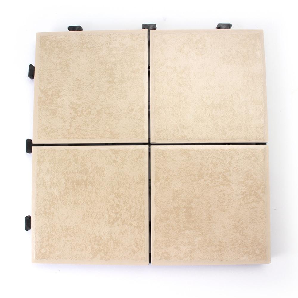 【ケース販売】ジョイントタイル ホワイト 4枚貼り×6枚入