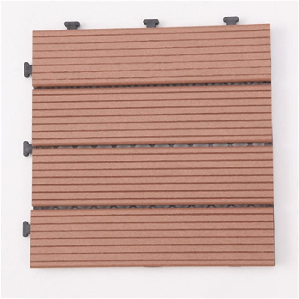 【ケース販売】ジョイントデッキ 木樹脂 ブラウン 6枚入