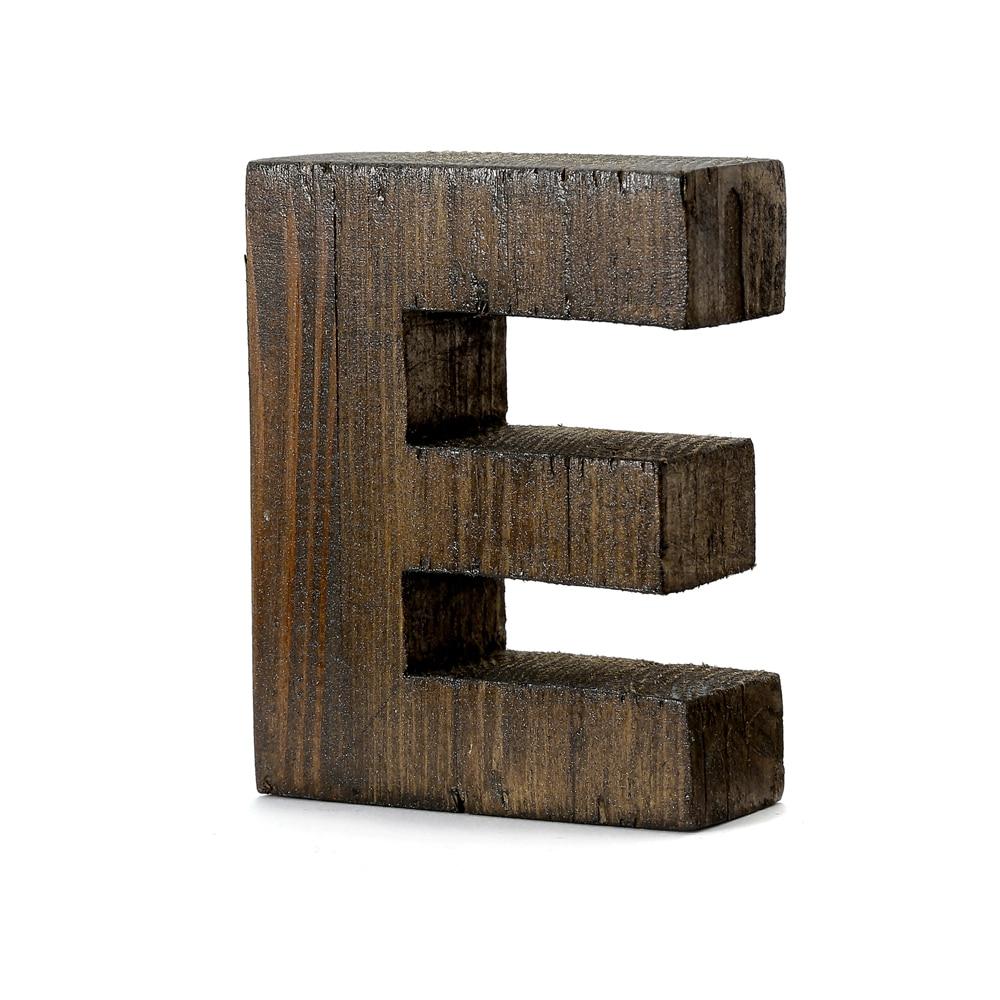 """【trv】WOOD DECO ALPHABET """"E"""""""