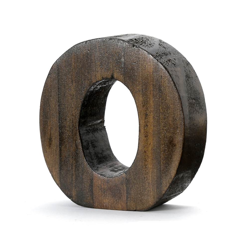 "【trv】WOOD DECO ALPHABET ""O"""