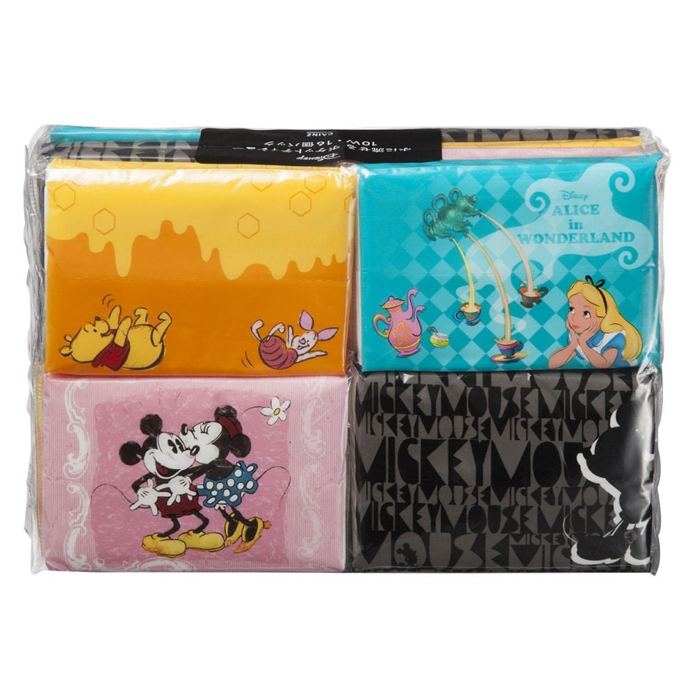 【数量限定】ディズニー 水に流せるポケットティシュー 10組×16個パック