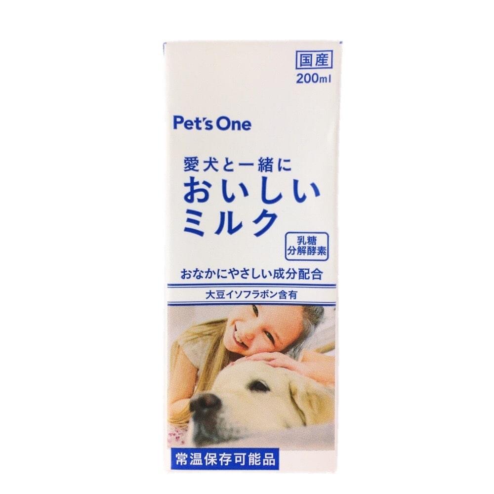 愛犬と一緒においしいミルク 大豆イソフラボン入り 200ml