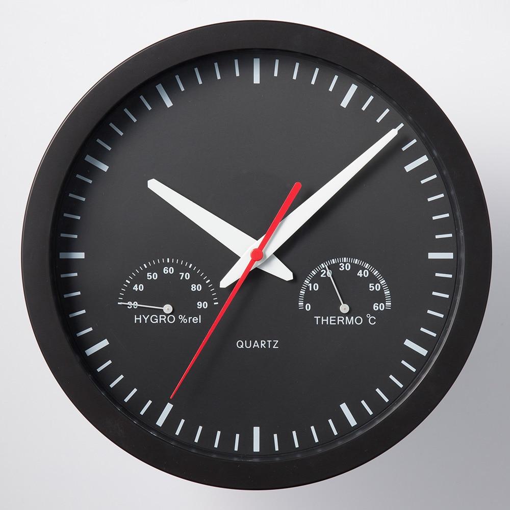 温湿度計付き掛時計 A−11
