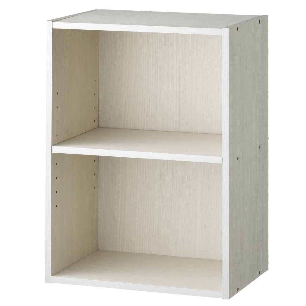 カラーボックス S2 可動棚収納ボックス 2段 ホワイト