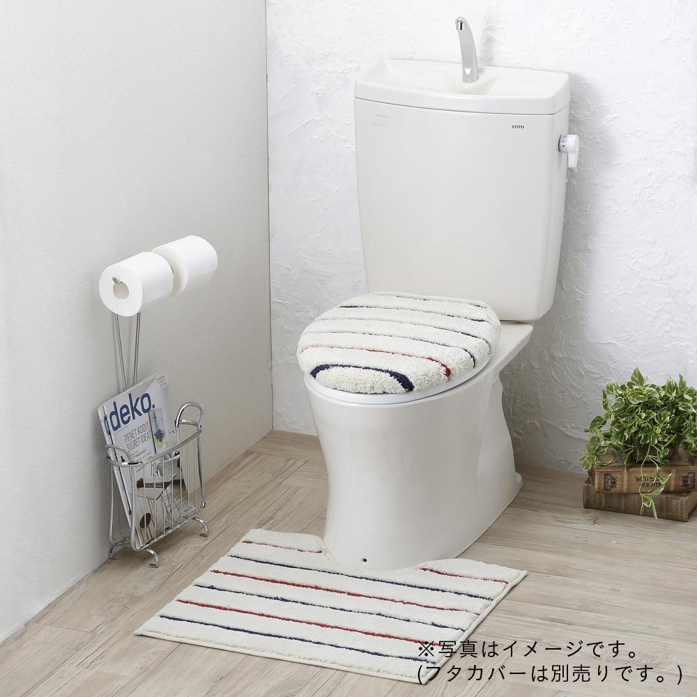 トイレマット ネイビーボーダー