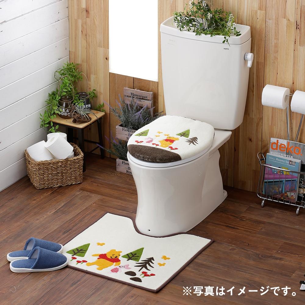 トイレフタカバー・マットセット 洗浄型 くまのぷーさん