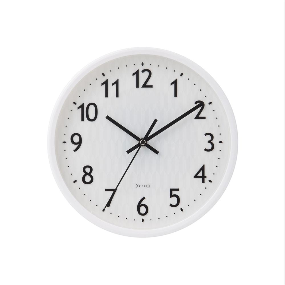 電波掛時計 C−3 ホワイト