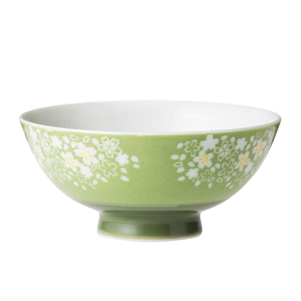 ごはんがつきにくい茶碗 小 はなざかり グリーン