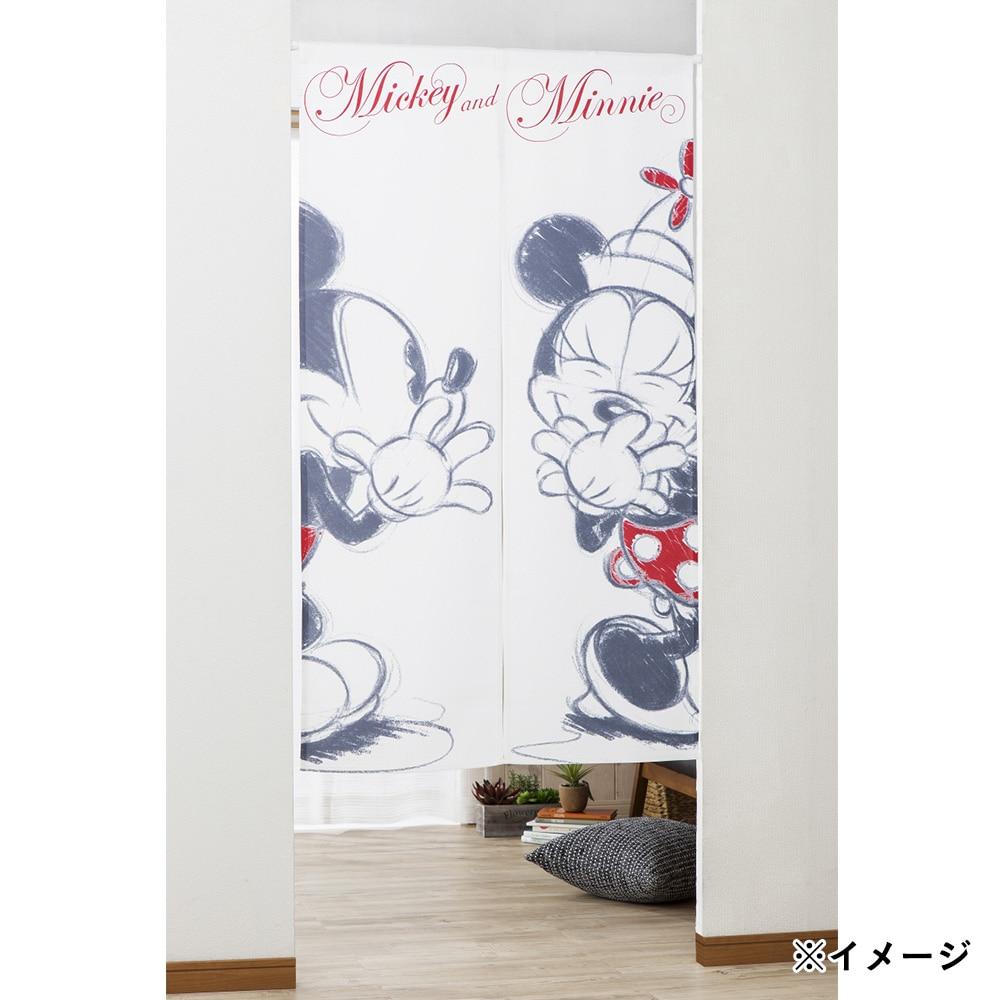 ディスニー のれん ミッキー&ミニー 85×150