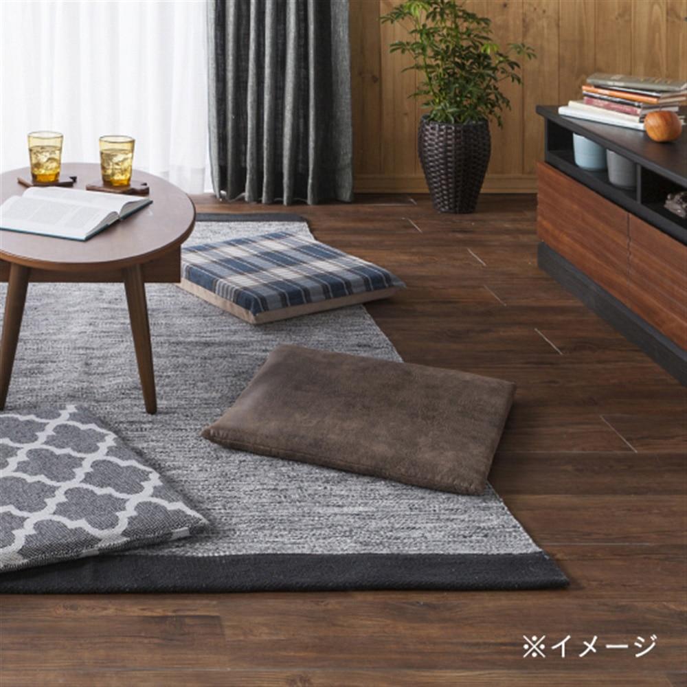 【数量限定】座布団 固綿シートクッション レザー調ブラウン 45x45