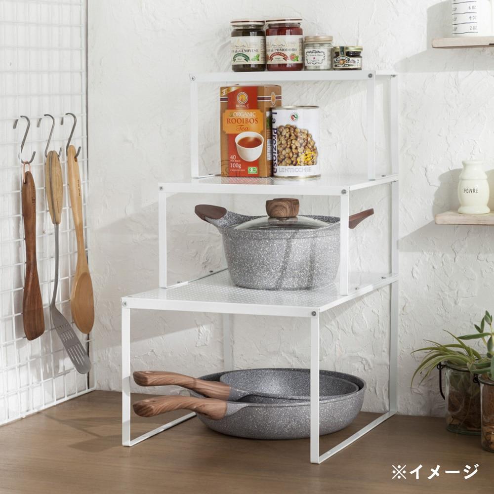 キッチンラック 積み重ね棚 フラットM