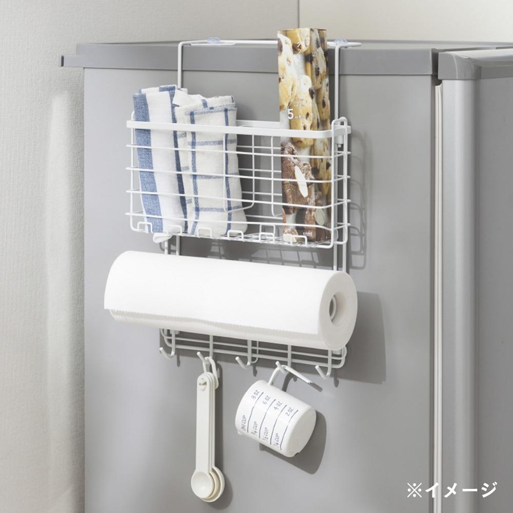 キッチン収納 冷蔵庫伸縮ホルダー