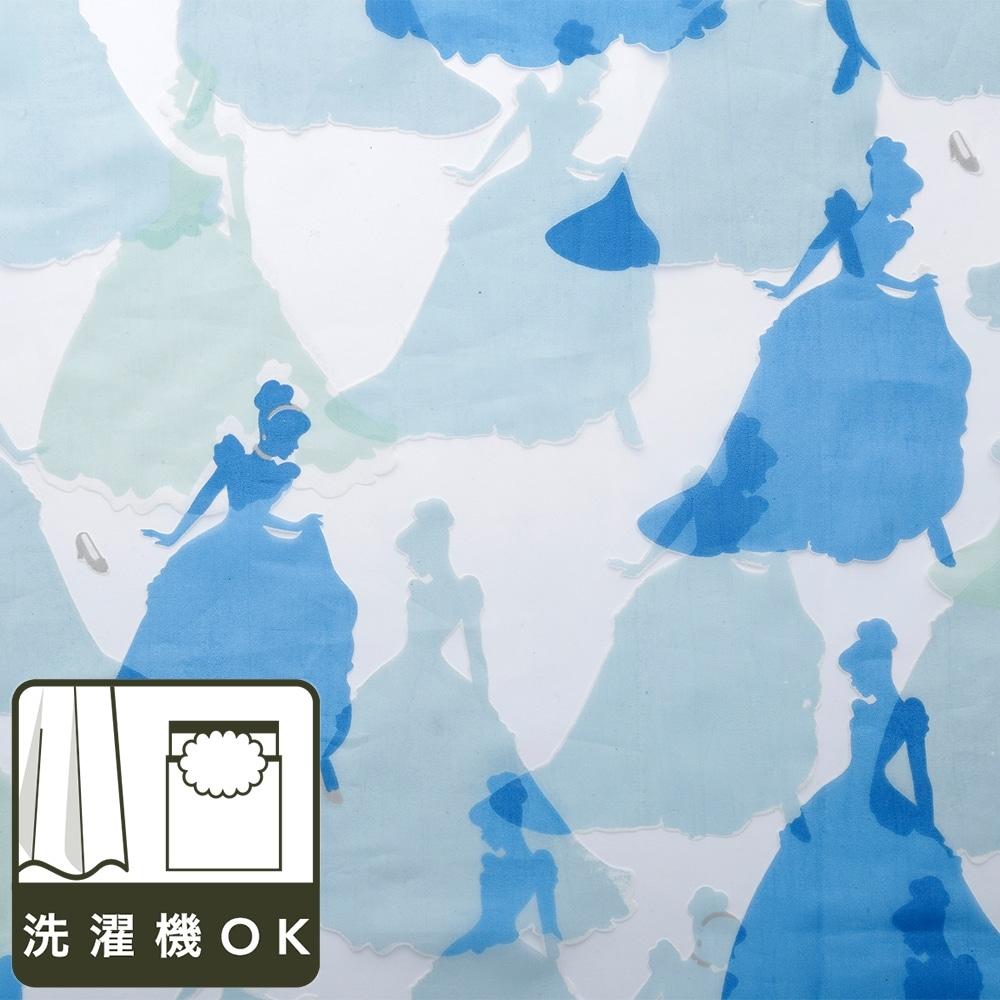 ディズニー レースカーテン シンデレラ 100×175cm 2枚組【別送品】