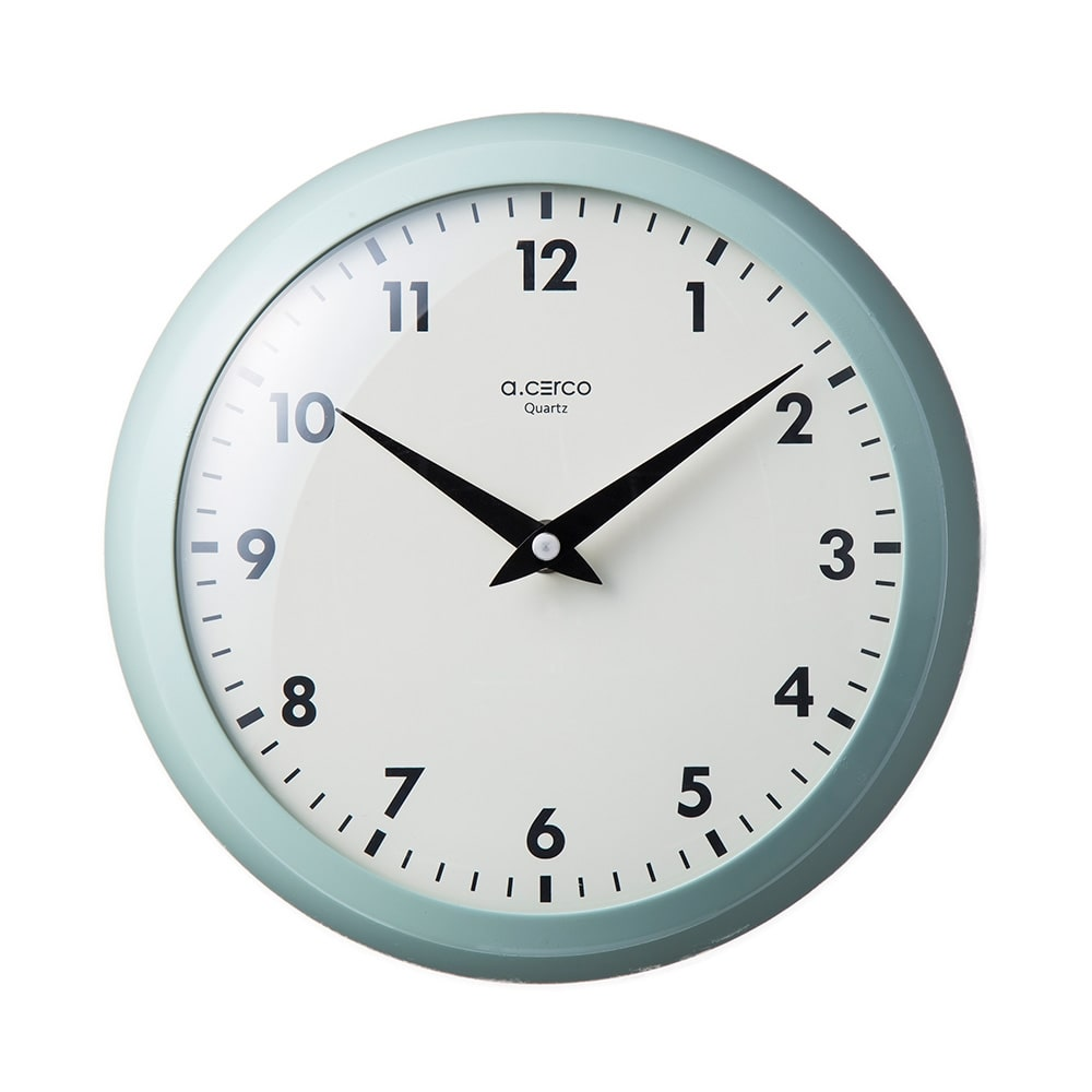 【trv】デザイン掛け時計 スマートレトロ ミント