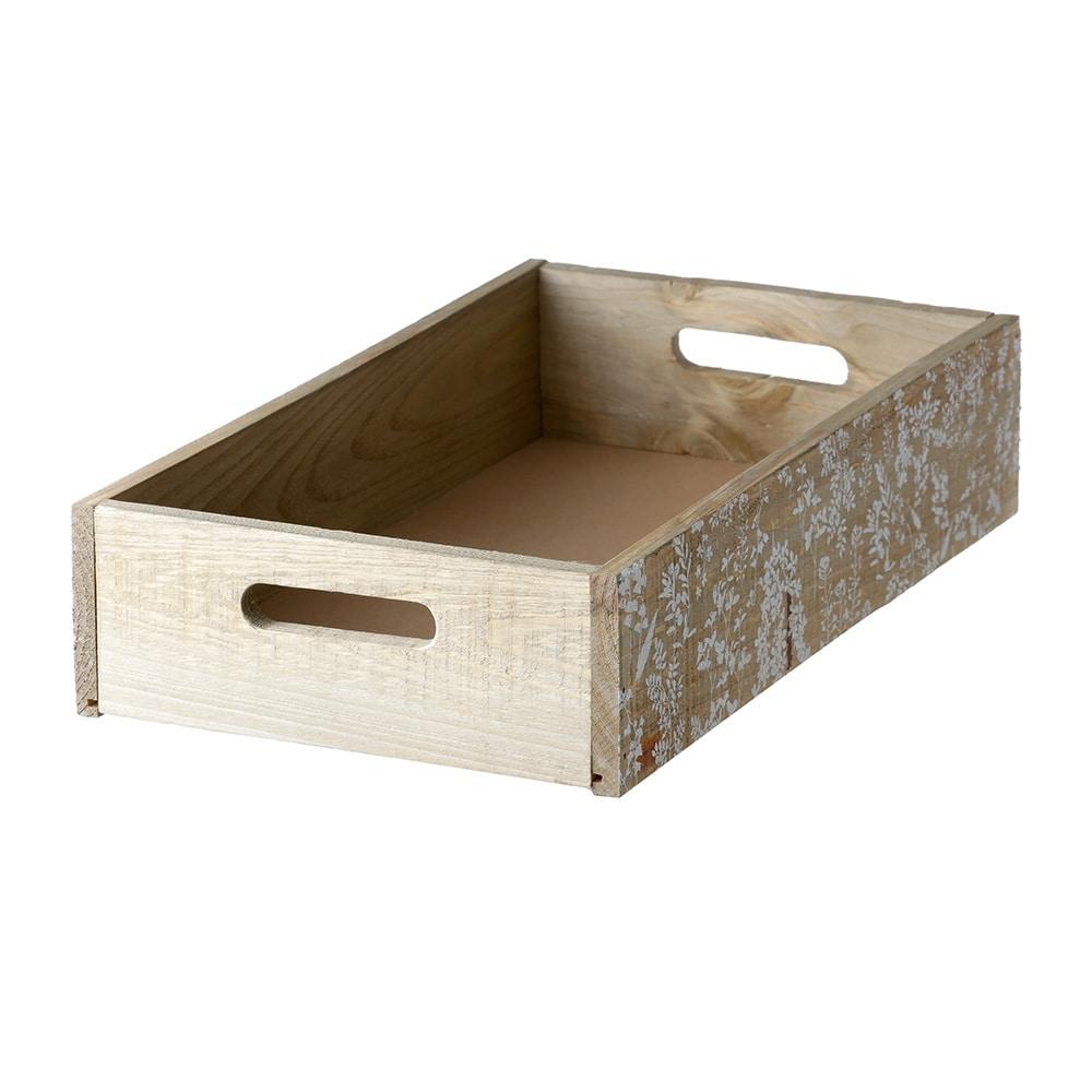 【trv】WOOD BOX L 40X24X9cm