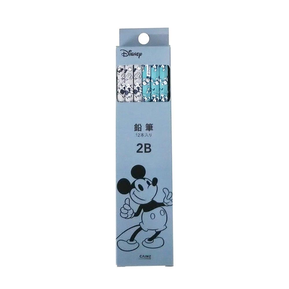 ディズニー 鉛筆2B ミッキー スマイル ダース
