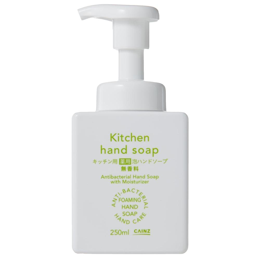CAINZ キッチン用 薬用泡ハンドソープ 無香料 本体 250ml