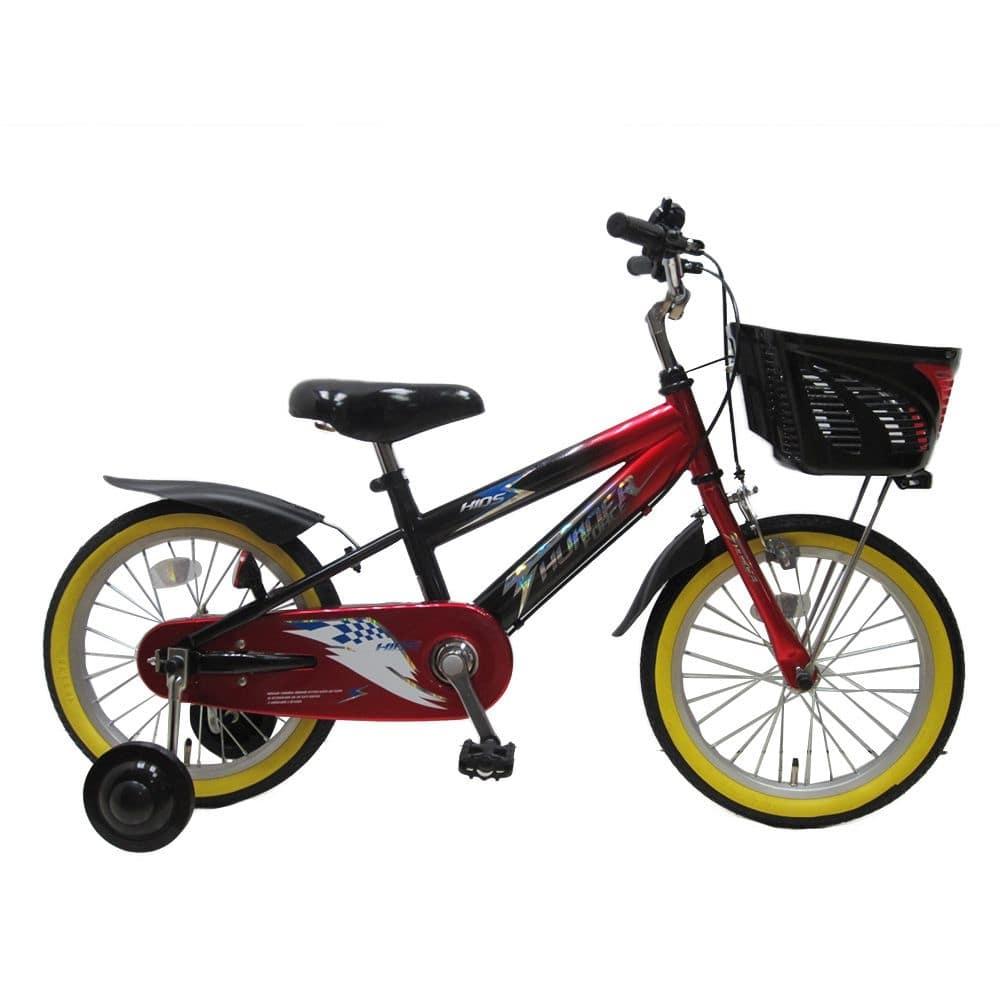 【自転車】【全国配送】補助付き子供用自転車 サンダーフォースキッズ 16インチ レッド/ブラック【別送品】