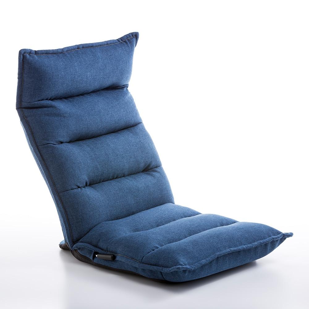 【数量限定】TZ20 倒れにくいレバー式フルフラット座椅子 デニム調