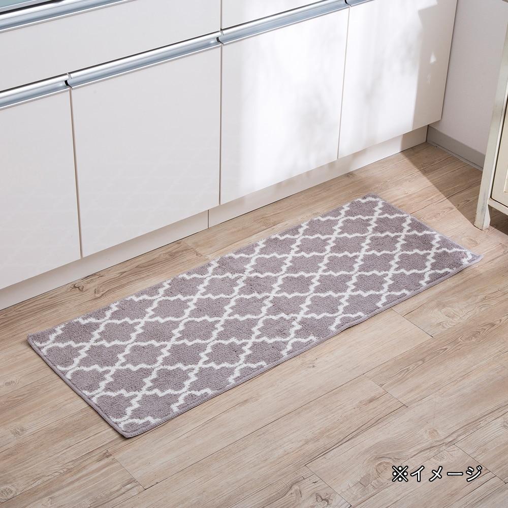 ずれにくいキッチンマットネオクラ 45×120 ベージュ