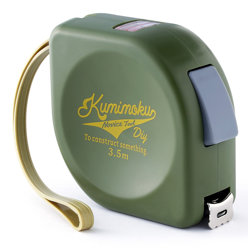 Kumimoku 内寸測定窓付 コンベックス 3.5m グリーン