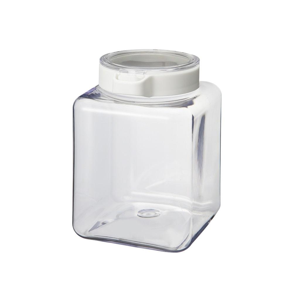 ワンプッシュで開閉できる保存容器 1.9L