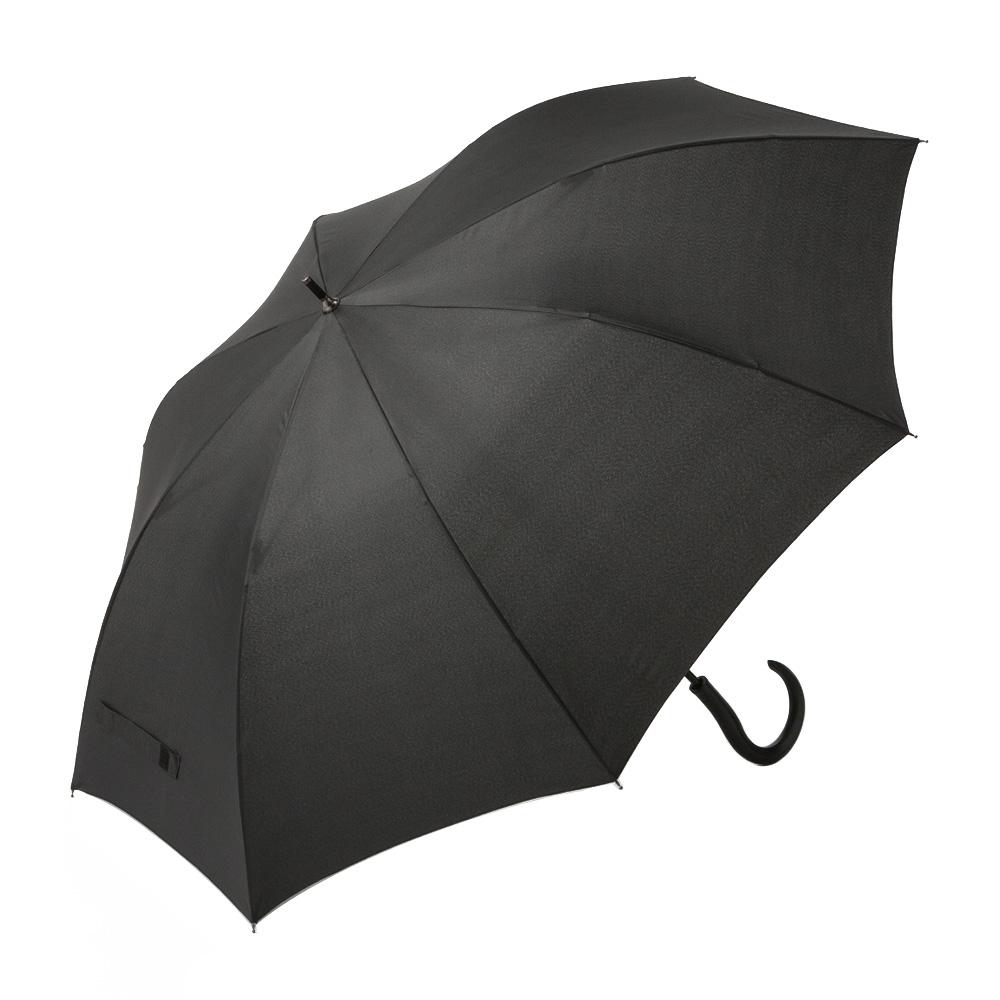 風に強いジャンプ傘 70cm ブラック