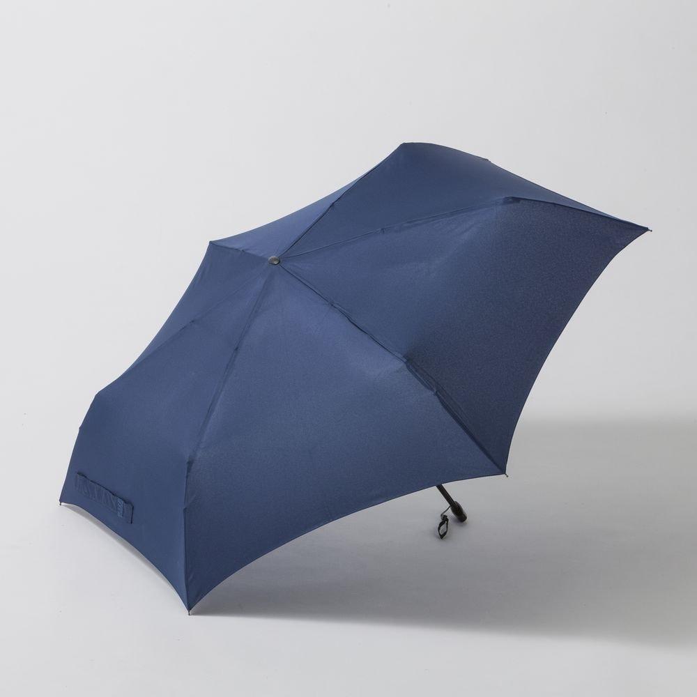 折りたたみ傘 フラット 55cm ネイビー