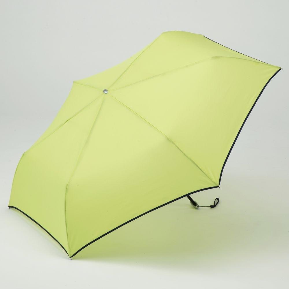 【数量限定】折りたたみ傘 フラット 55cm グリーン