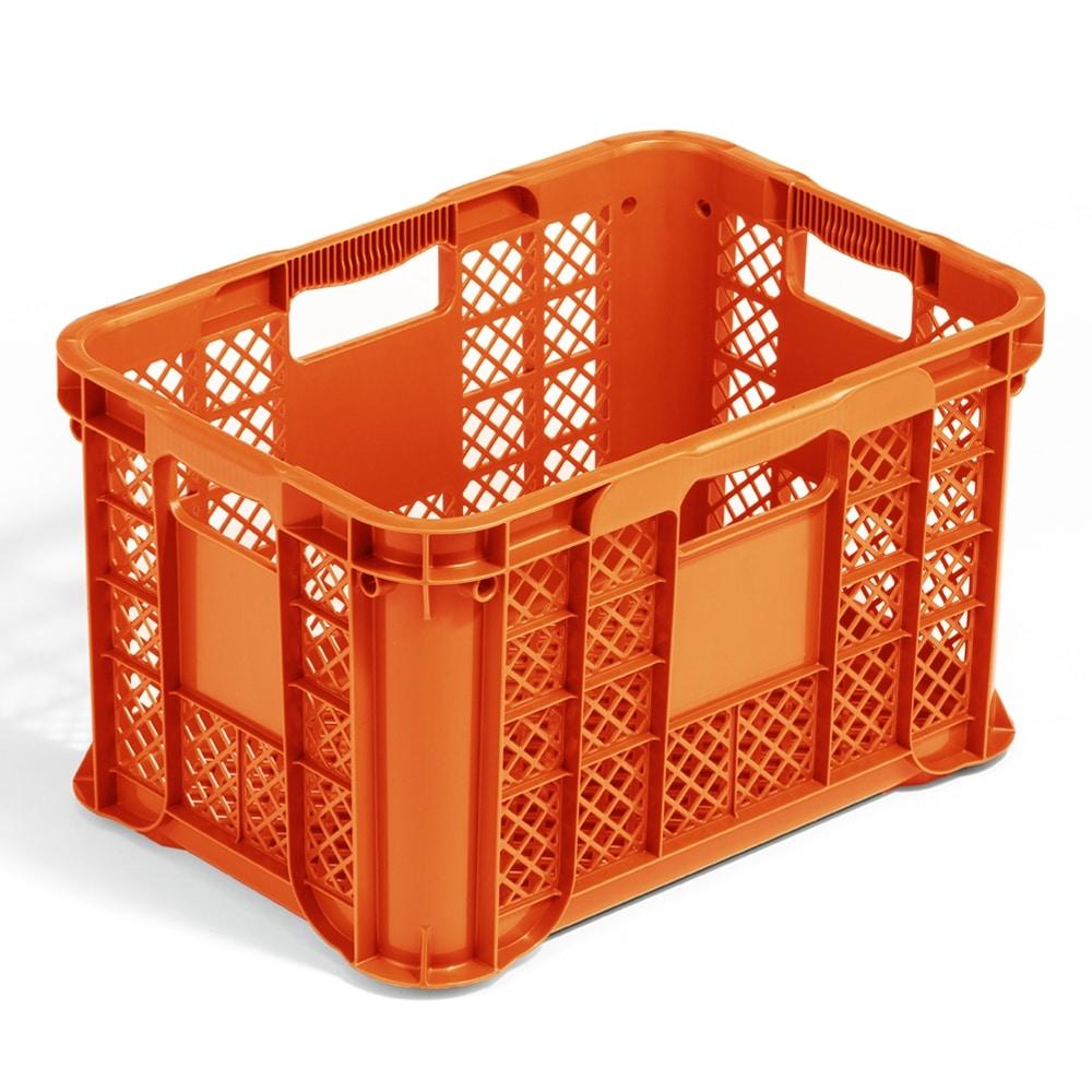 取っ手が持ちやすいコンテナ オレンジ