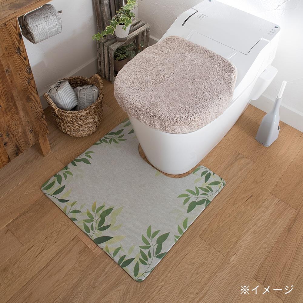 シートで拭けるトイレマット リーフ