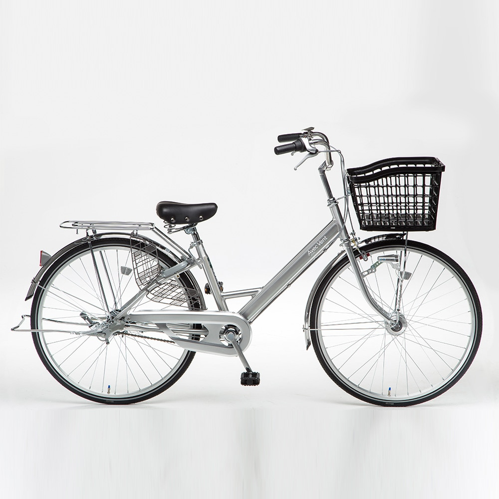 【自転車】【全国配送】KiLaLi26パンクしにくいアルミ軽快N3SV【別送品】