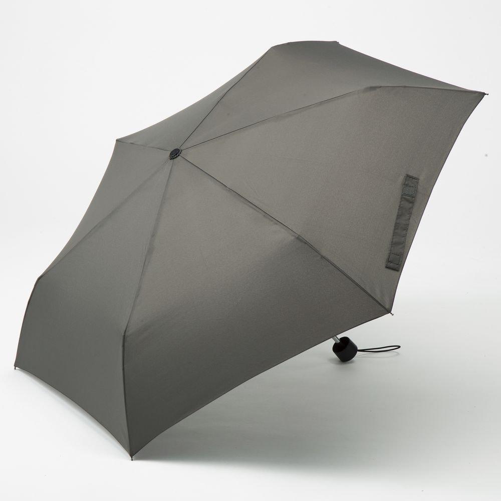 撥水折りたたみ傘 60cm グレー