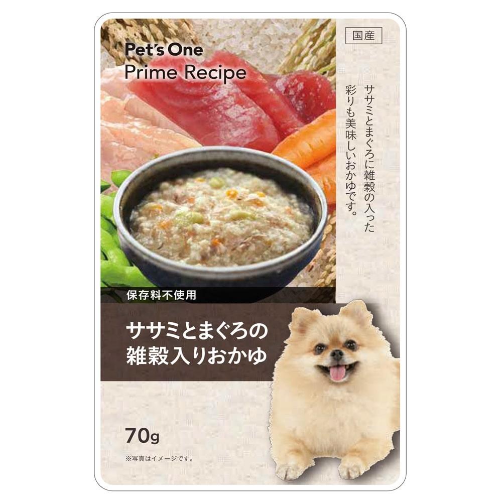Pet's One プライムレシピ グルメパウチ ササミとまぐろの雑穀入りおかゆ 70g