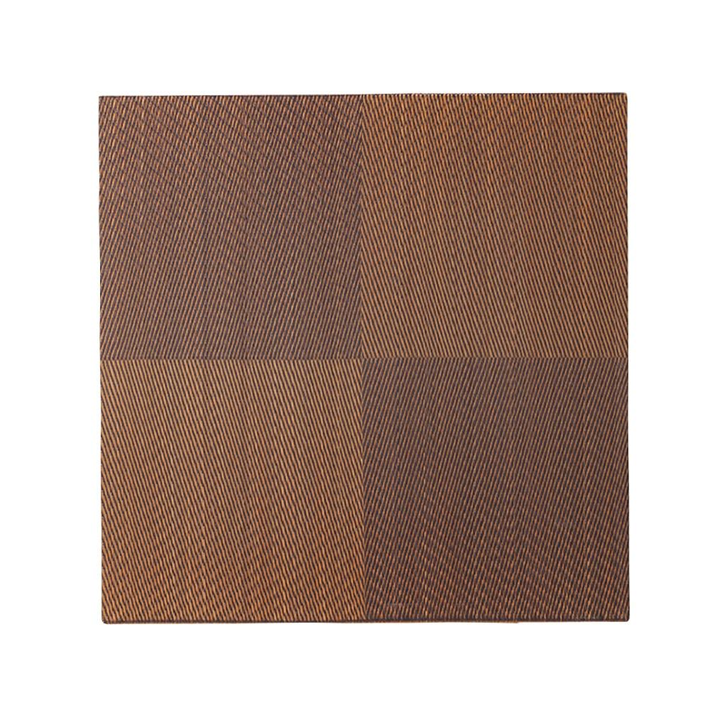 ずれにくい厚手縁無システム畳 82×82 ブラウン