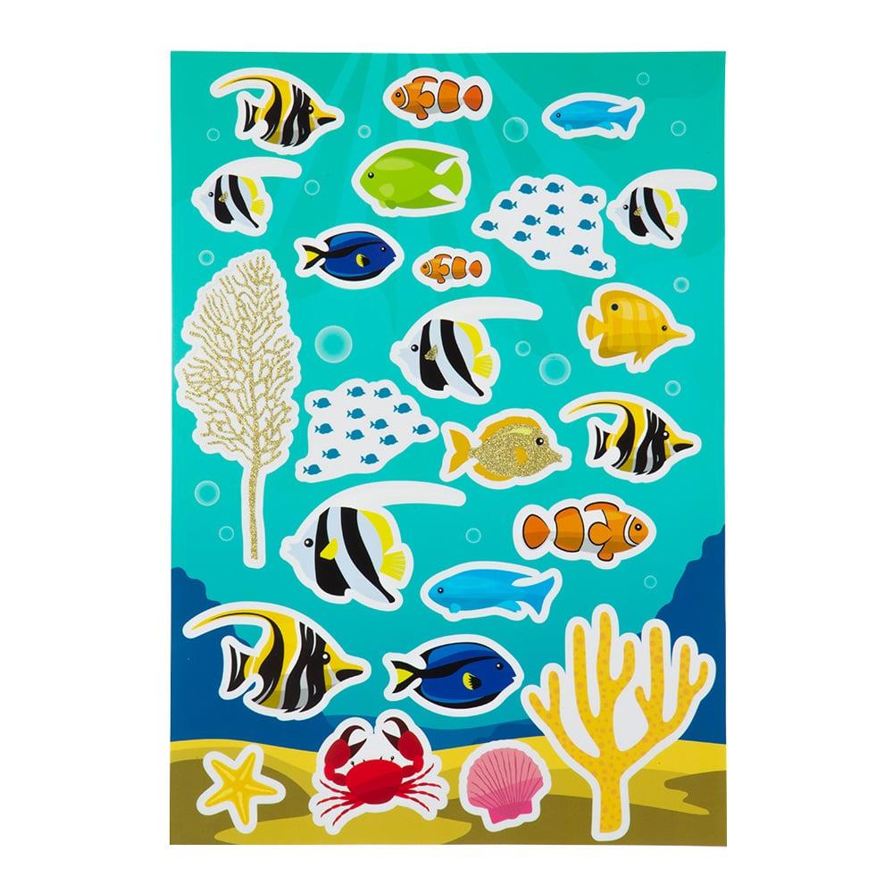 ウォールステッカー 海の仲間たち 35×50