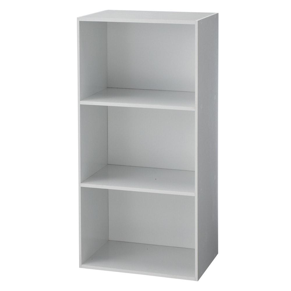 カラーボックス T5 固定棚収納ボックス3段 ホワイト