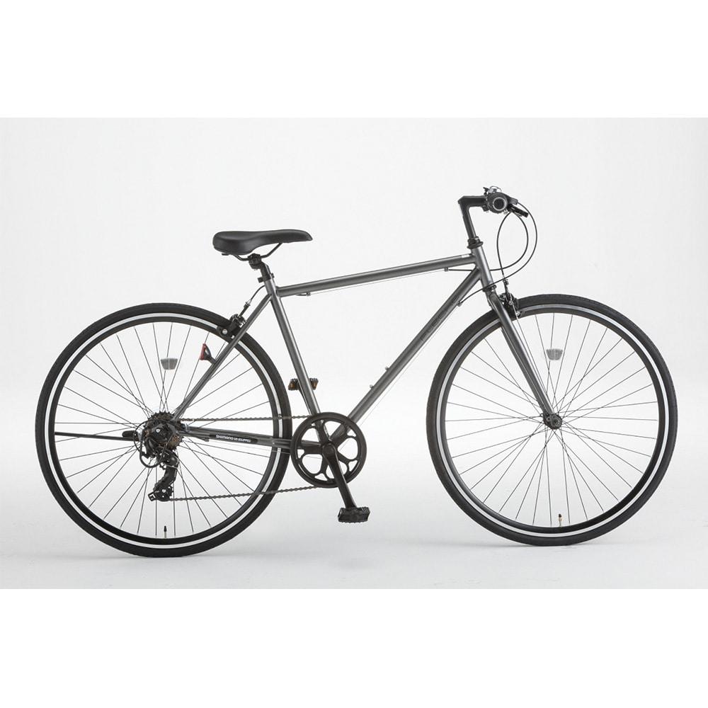【自転車】クロスバイク FLECHE 外装7段 700×28C ガンメタ【別送品】