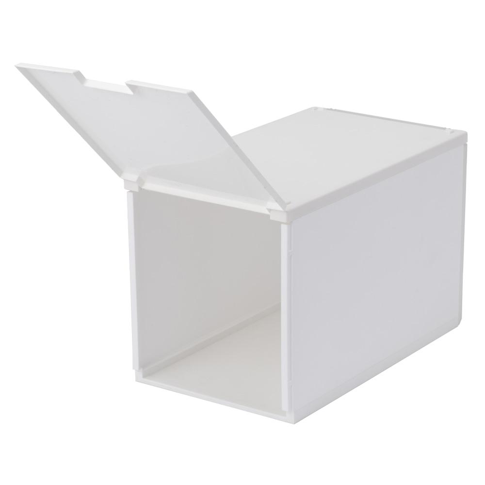 積み重ねたまま取り出せる組立式ケース ハイタイプ