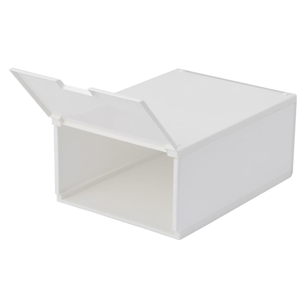 積み重ねたまま取り出せる組立式ケース ワイドロータイプ